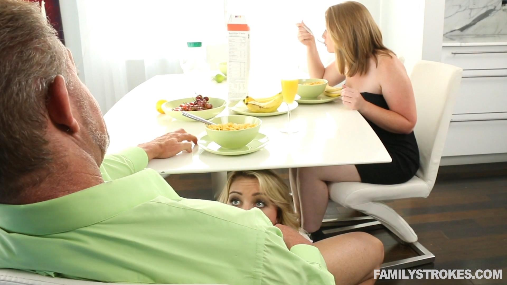 Familystrokes sucking cock to skip school